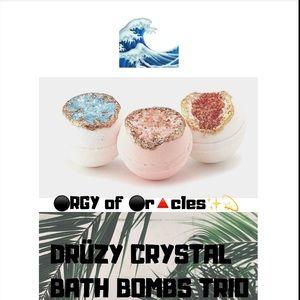 DRÜZY CRYSTAL BATH BOMBS TRIO